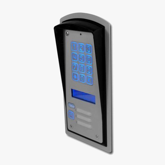 Domofon jednorodzinny z zamkiem szyfrowym i wyświetlaczem LCD RADBIT