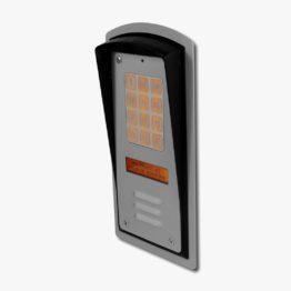 Domofon cyfrowy 10 lokali, z szyfratorem, wyświetla nazwiska, podtynkowy