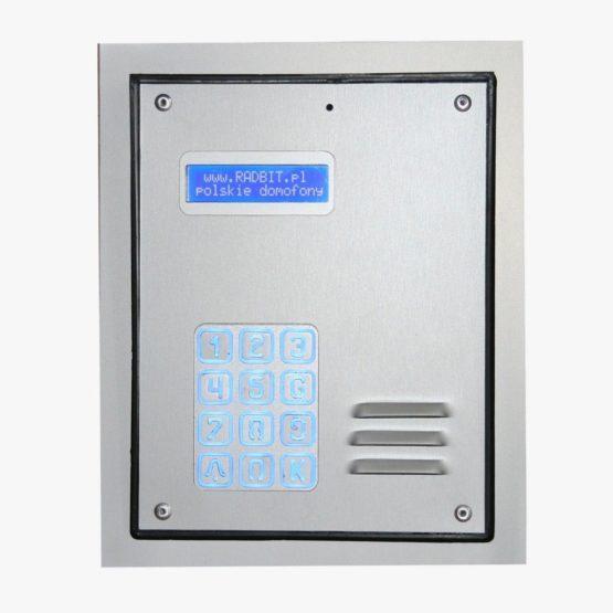 Cyfrowy domofon wielorodzinny z szyfratorem, do bloku, podtynkowy