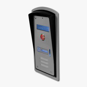 Domofon jednorodzinny z czytnikiem pastylek i wyświetlaczem LCD, podtynkowy