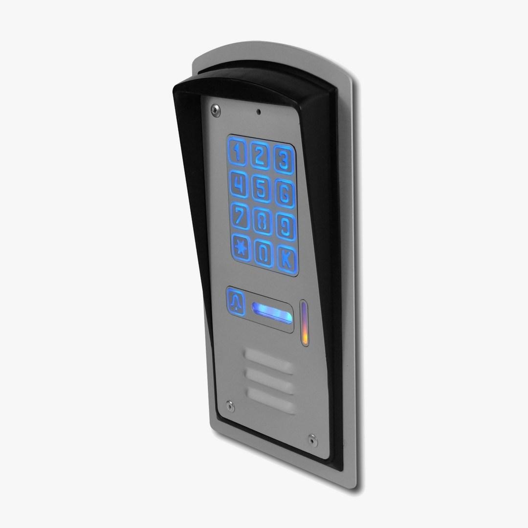domofon jednorodzinny z szyfratorem, podtynkowy, Radbit