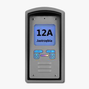 Domofon dwurodzinny z czytnikiem kart RFID i interkomem, podtynkowy