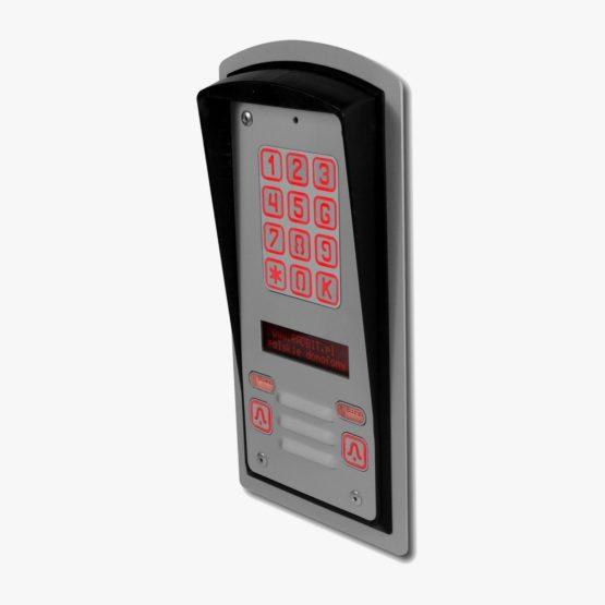 Domofon dwurodzinny z szyfratorem, interkomem i wyświetlaczem LCD, podtynkowy