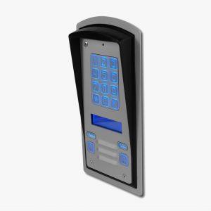 Domofon dwurodzinny z wyświetlaczem LCD i podświetlanym szyfratorem Radbit