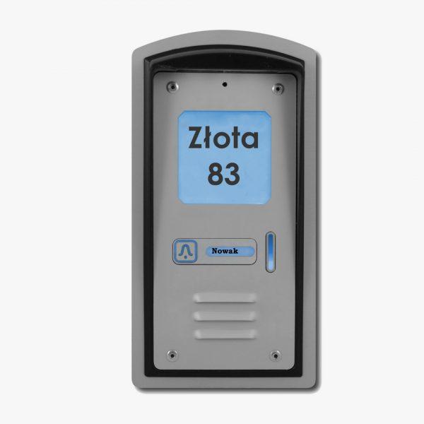 Domofon jednorodzinny z czytnikiem kart RFID, podtynkowy