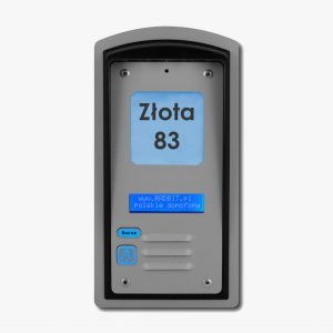 Domofon jednorodzinny z czytnikiem kart RFID i wyświetlaczem LCD, podtynkowy