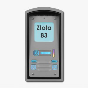 Domofon trzyrodzinny z czytnikiem kart RFID Radbit