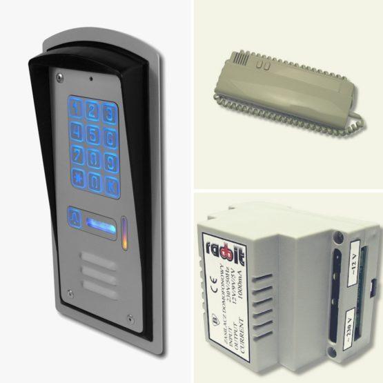 Domofon jednorodzinny z zamkiem szyfrowym RADBIT