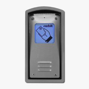 Kaseta kontroli dostępu z czytnikiem kart zbliżeniowych i okienkiem informacyjnym Radbit