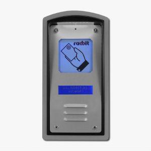 Kaseta kontroli dostępu z czytnikiem kart zbliżeniowych Unique, wyświetlaczem LCD i okienkiem informacyjnym