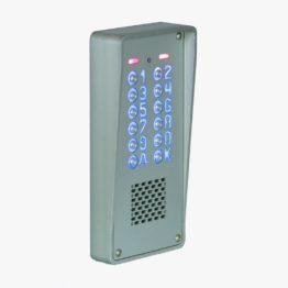 Cyfrowy domofon wielorodzinny z szyfratorem do bloku, natynkowy