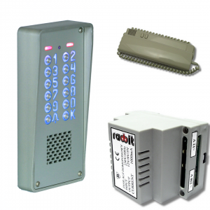 Cyfrowy zestaw domofonowy z szyfratorem, do bloku, natynkowy