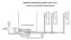 Schemat instalacji cyfrowej Radbit, dwa elektrozaczepy