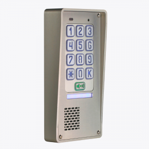 Domofon jednorodzinny z szyfratorem, natynkowy