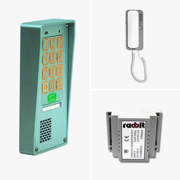 Zestaw domofonowy jednorodzinny z szyfratorem