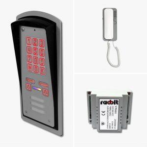 Zestaw domofonowy dwurodzinny z szyfratorem, podtynkowy