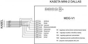 Schemat podłączenia kasety domofonowej RADBIT