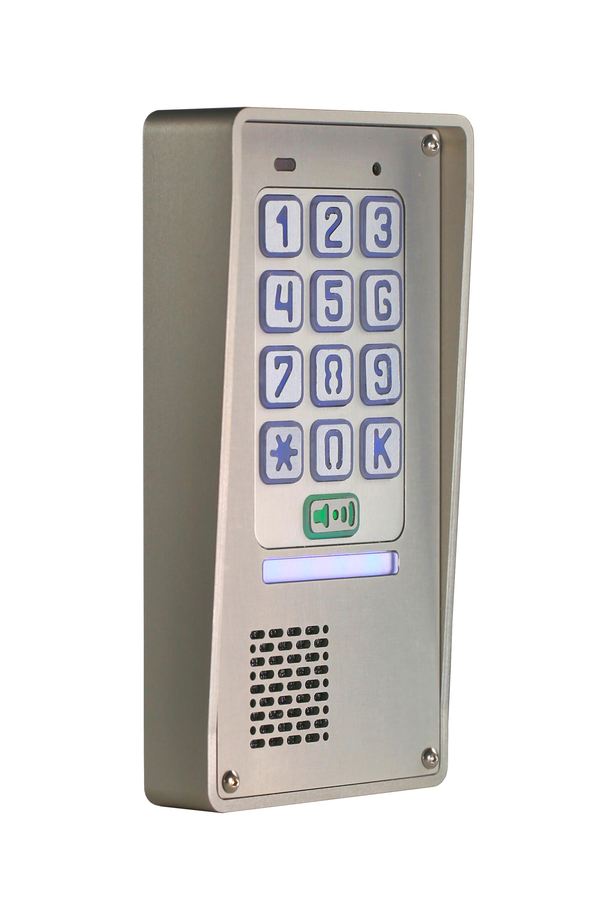 Domofon jednorodzinny z szyfratorem natynkowy