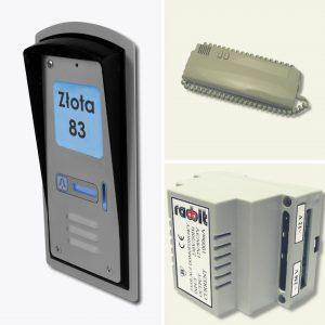 Zestaw domofonowy jednorodzinny z czytnikiem kart RFID