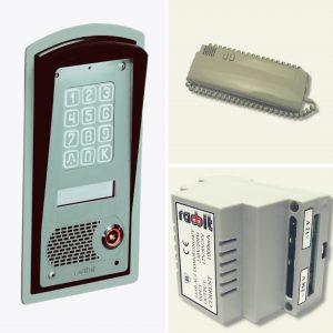 Zestaw domofonowy wielorodzinny cyfrowy z szyfratorem i czytnikiem